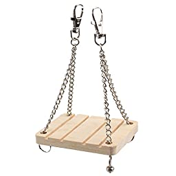 Wooden Sport Exercise Toy Rat Hamster Mouse Hanging Cage Toy Swing Toy