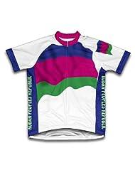 Kuban Peoples Republic Flag Short Sleeve Cycling Jersey for Women