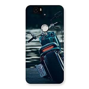Enticing Bike Chopper Multicolor Back Case Cover for Google Nexus-6P