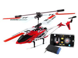 iPhone Controlled Syma 3 Channel S107 Mini Indoor Metal Body Frame iCopter, Color May Vary