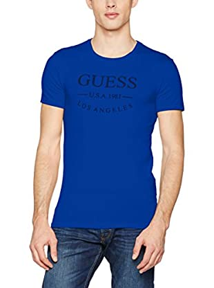 Guess Camiseta Manga Corta Ss Round Neck (Azul Vivo)