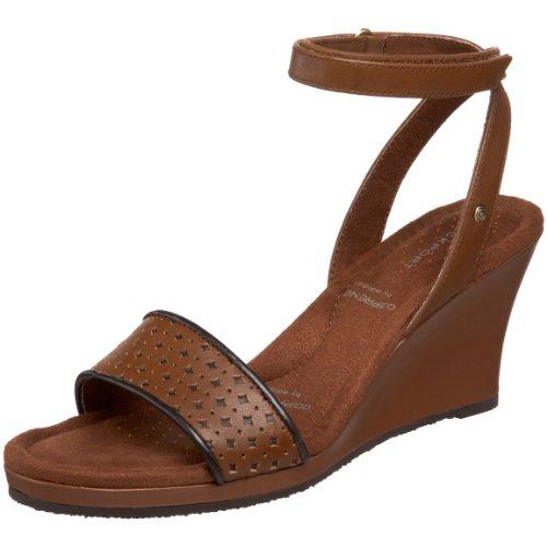 Rockport Women's Emily Ankle Strap Wedge Luggage Heel K56166 5 UK