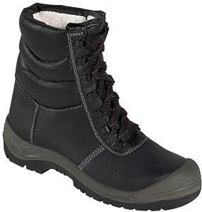 Winterschnürstiefel SAALFELD ÜK - S3 - mit Stahlkappe - schwarz/grau - Größe: 39