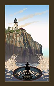 Northwest Art Mall MR-1865 Split Rock Lighthouse Minnesota 11 by 17-Inch Print by Mike Rangner