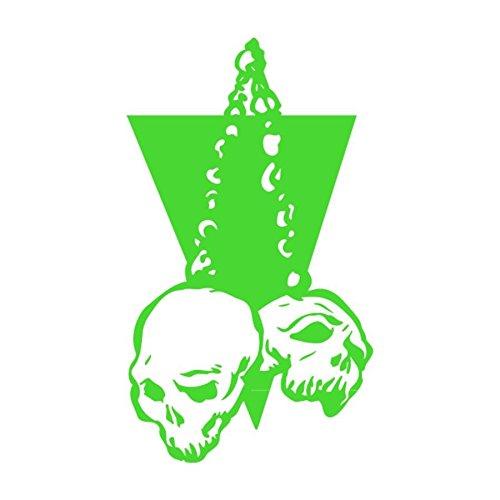 Sticker autoadesivo logo Skull 4, disponibile in più colori, 11 x 20 Verde mela