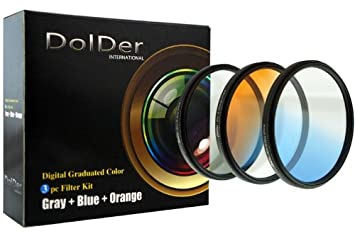 Farb ND Grau Blau+ Verlaufsfilter Orange 52mm Verlaufsfilterset