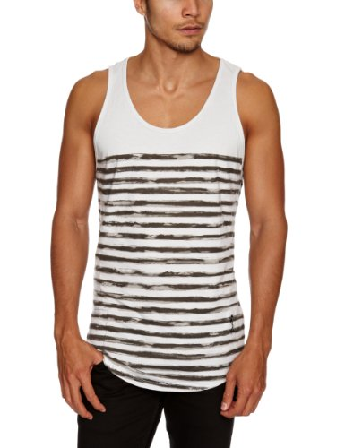 Religion Ltd Psl04 Painted Stripe Men's Vest Lunar Grey X-Large