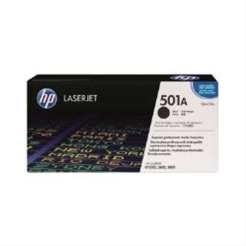 HP Toner original (Q6470A) pour imprimante laser de couleur hp, noir