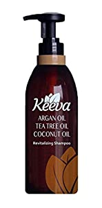 #1 Best Sulfate Free Shampoo with Tea Tree Oil, Argan Oil and Coconut Oil 3-in-1 Formula by Keeva. 100% Natural & Organic Ingredients. Perfect Anti-Dandruff, Dry Scalp, Moisturizing, & Clarifying!