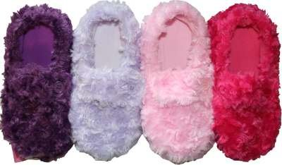 Ladies Shaggy Fluffy Slipper Socks UK 4-7