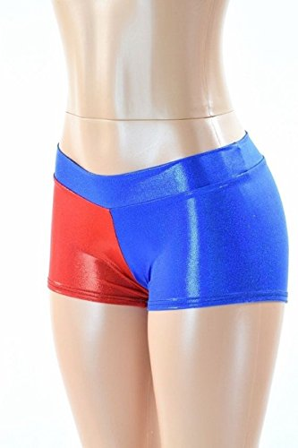 [NEWEST Harley Quinn Shorts Suicide Squad Metallic Cosplay Batman costume panties Custom Made included (L,] (Ryu Costume)