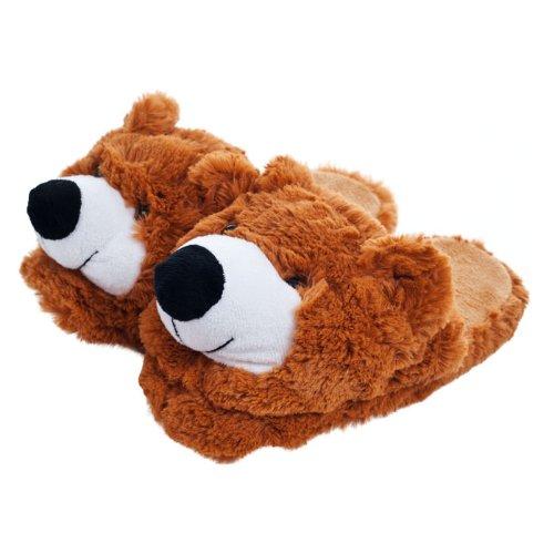 Kids Cuddlee Slippers - Teddy Bear - (Ages 6