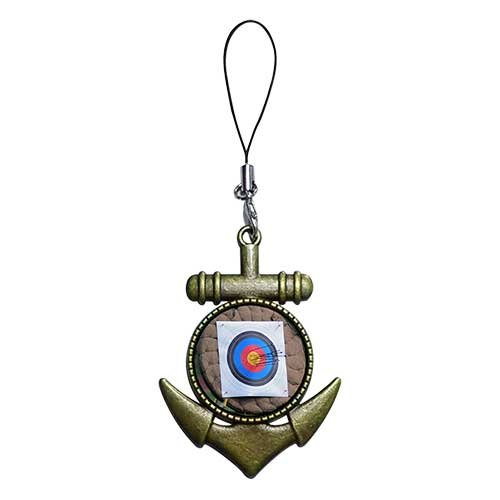Chicforest Ancient Bronze Retro Style Olympics Archery Target Flower Photo Anchor Strap Hanging Chain For Phone Cell Phone Charm Dust Plug-Earphone Jack Accessories, Cell Charms, Dust Plug, Ear Jack Universal 3.5Mm Anti Dust Earphone Jack Plug Cap For Pho