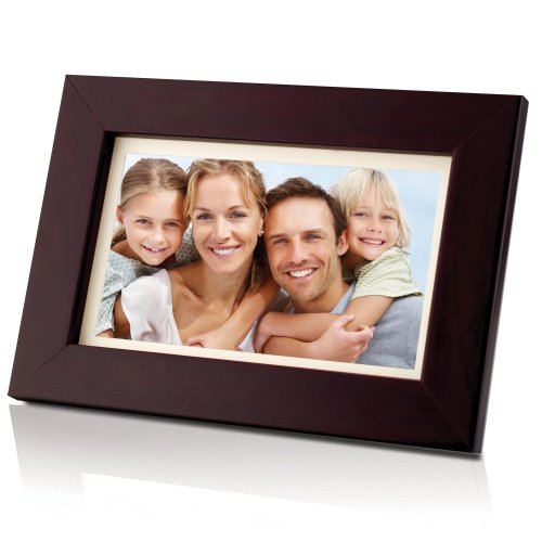 Coby DP700WD 7-Inch Widescreen Digital Photo Frame -Wood Design