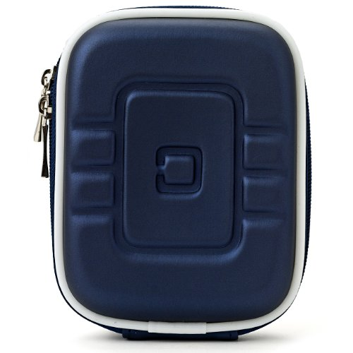 VG Vangoddy Universaltasche Resistant Digitalkamera Hard Shell Tasche Kameratasche Kompaktkamera-Taschen (f&#252;r Flip Ultra, Canon Powershot IXUS, Fujifim Finepix, Sony Cybershot, Panasonic Lumix, Samsung, Nikon Coolpix, Pentax, Lumix, Kodak Easyshare, Casio Exilim, Olympus und alle anderen Compact Digital-Kameras - Interne Gr&#246;&#223;e: 104 x 79,5 x 33 mm) (Blue)