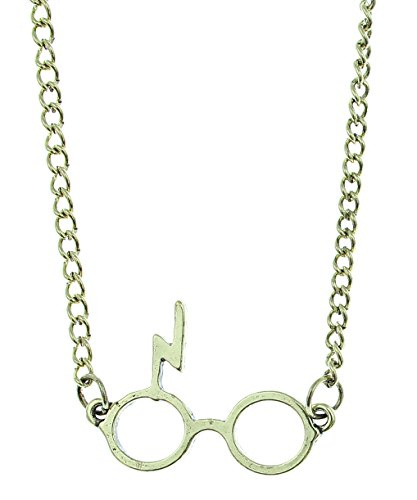 Harry Potter Glasses And Lightning Bolt Scar Chain Necklace