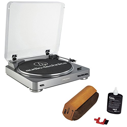 Great Features Of Audio-Technica AT-PL60USB USB Turntable With RCA Turntable Cleaning System