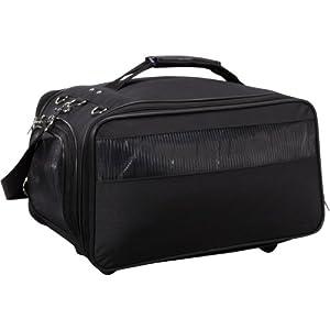 Bark-n-Bag Jetway Collection Pet Carrier, Classic Black