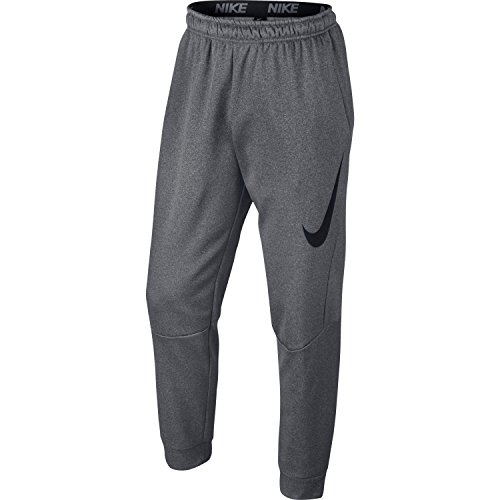 Nike Men's Therma Graphic Tapered Pants (Carbon Heather/Black, Large)