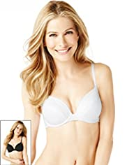 2 Pack Textured Striped Underwired A-DD Bras