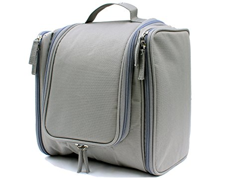 Travel Toiletry Bag X Large Capacity Deluxe Hanging Cosmetic Organizer Kit (Gray) (Back To Basics Tubs compare prices)