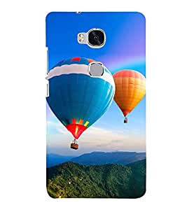 Hot Air Balloon 3D Hard Polycarbonate Designer Back Case Cover for Huawei Honor 5X :: Huawei Honor X5 :: Huawei Honor GR5