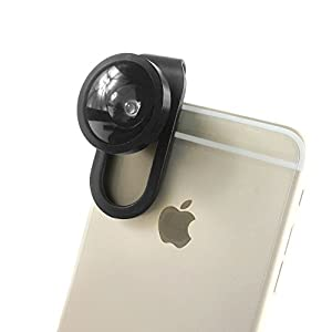 FAR New Universal 4-IN-1 Mobile Phone Camera Clip Lens, Special Effects Shots, Macro + 180 Degree Supreme Fish Eye + 0.67X Wide Angle + 0.4X Wide Lens, With A Clamp and A Free Flannelette Bag