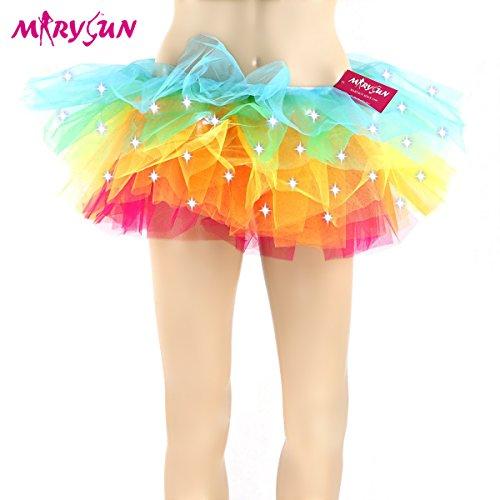 Led Tutu Adult Tutu Neon Rainbow Tutu for Women 80s Costume Tutu for Party (Adult Clothing compare prices)