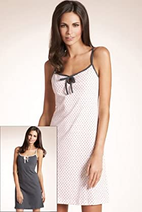 2 Pack - Pure Cotton Bow Strappy Nightdresses