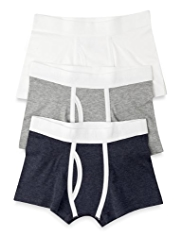3 Pack Autograph Superfine Pure Cotton Marl Trunks