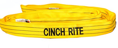 6 Ft. Yellow Polyester Endless Roundsling 8,400Lb Vertical Load Capacity Round Sling
