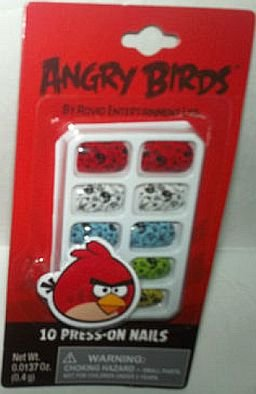 Angry Birds Press-On Artificial Nails Set of 10