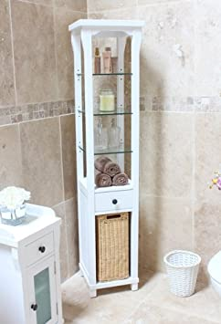 Hartford Painted furniture Tall Bathroom Cabinet and Laundry Bin