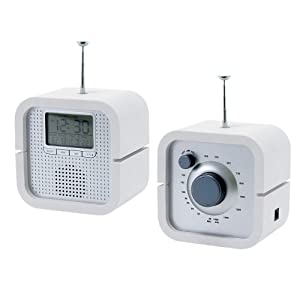 pt radio alarm clock back in time white. Black Bedroom Furniture Sets. Home Design Ideas