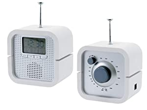 PT Radio Alarm Clock Back In Time White
