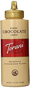 Torani White Chocolate Sauce, 16.5-Ounce Bottles (Pack of 6)