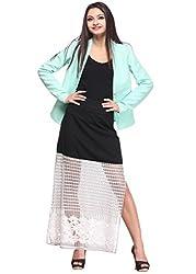 Contrast A-Line Skirt
