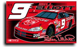 Bill Elliott - Nascar Flags by Flagline