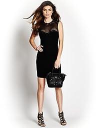 GUESS Women's Souza Embellished Sweetheart Body-con Dress