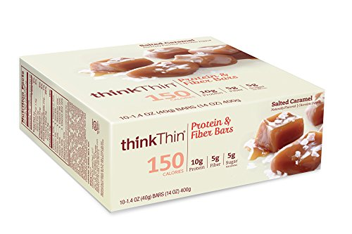 thinkThin-Protein-Fiber-Bars-Salted-Caramel-141-Ounce-Pack-of-10