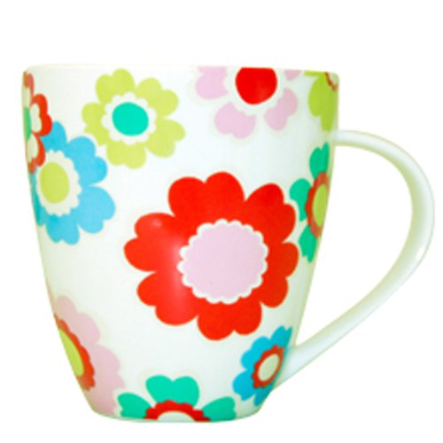 Cath Kidston Electric Flowers Crush Shaped Mug