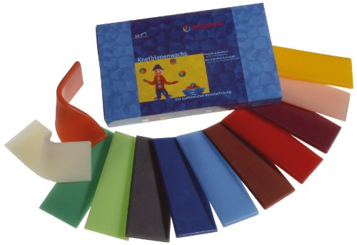 Stockmar Modeling Beeswax - 12 Assorted Sheets (Modeling Beeswax compare prices)