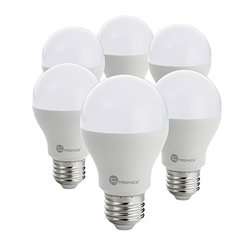 TaoTronics Light Bulbs, 60 Watt Equivalent (9W) A19 - E26 LED Bulbs, Soft White (3000K), Not Dimmable - Pack of 6 (9w Led Bulb compare prices)