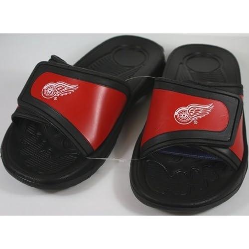 592011642439 Detroit Red Wings NHL Shower Slide Flip Flop Sandals