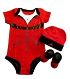 Stylish Jordan 3pcs Set Bodysuit 0-6 Months + Free 3.5mm Anti Dust Plug for Cellphone/ Mp3/ Ipad