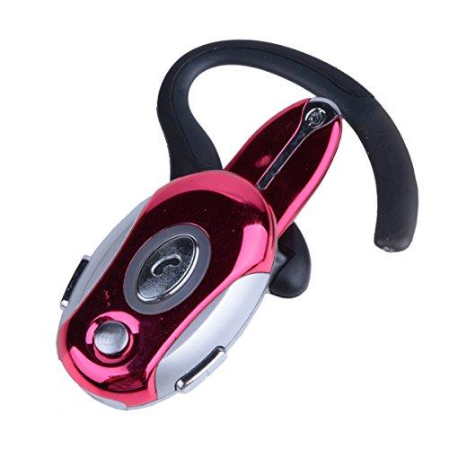 Business Handsfree Earphone Wireless Bluetooth Headset For Cell Phone Samsung Htc Motorola Red