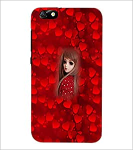 PrintDhaba Cute Girl D-4524 Back Case Cover for HUAWEI HONOR 4X (Multi-Coloured)