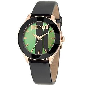 Just Cavalli r7251592502 38mm Stainless Steel Case Black Calfskin Mineral Women's Watch