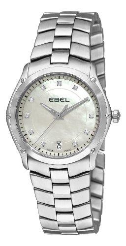 Ebel Classic Sport Grande Femme 32mm Date Saphir Verre Montre 9954Q31-99450