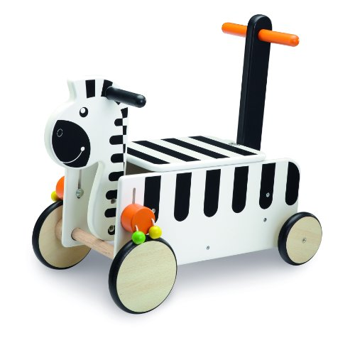 Wonderworld Ride-On Zebra front-142149